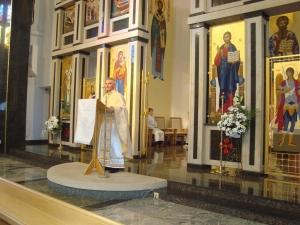 Ďakovná liturgia za o. Čajku a o. Kišáka