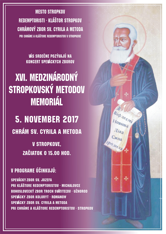 XVI- Medzinárodný Stropkovský Metodov Memoriál